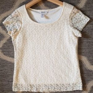 NWOT Coldwater Creek Lace Top!